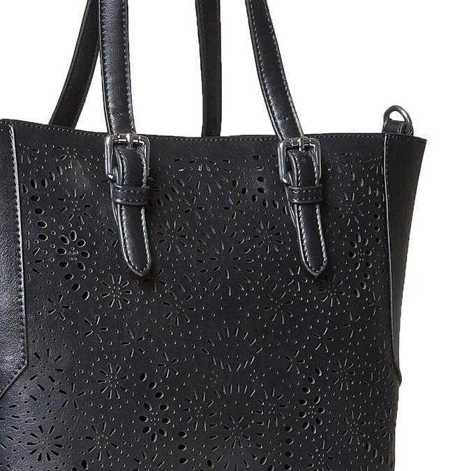 Kabelka v Shopping stylu bata, černá, 961-6799 - 26