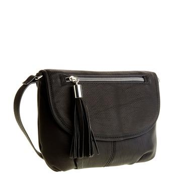 Crossbody kabelka se střapcem bata, černá, 961-6759 - 13