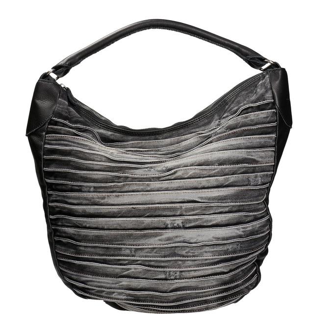 Denimová kabelka v Hobo stylu fredsbruder, černá, 964-6089 - 26