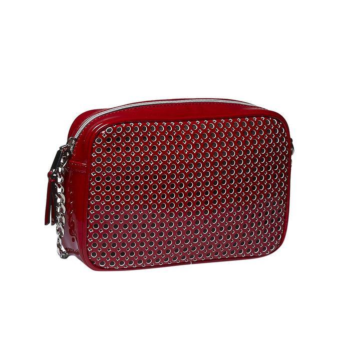 Crossbody kabelka s řetízkem bata, červená, 961-5797 - 13