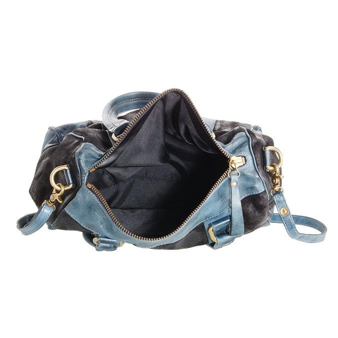 Dámská kožená kabelka bata, černá, 966-6101 - 15