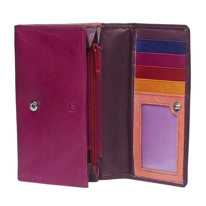 Dámská kožená peněženka bata, červená, 944-5156 - 15