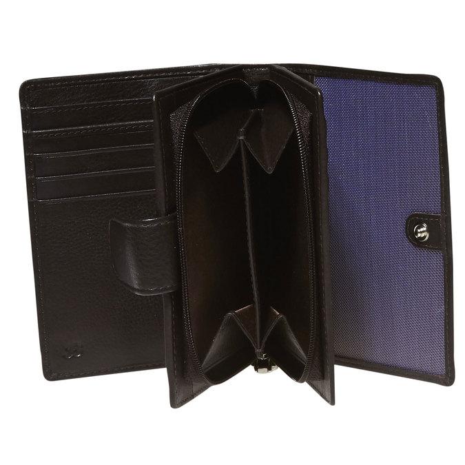 Dámská kožená peněženka bata, hnědá, 944-4117 - 15