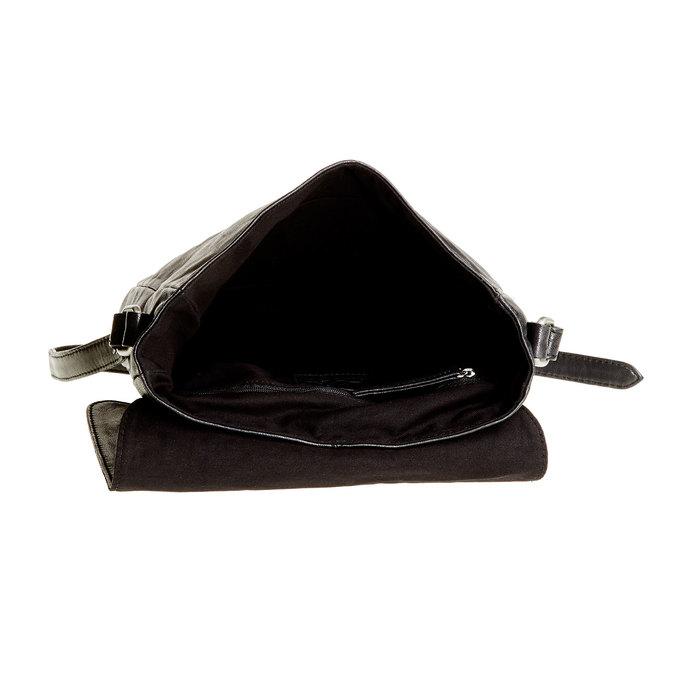 Kožená Crossbody taška s přezkami bata, šedá, 964-2193 - 15