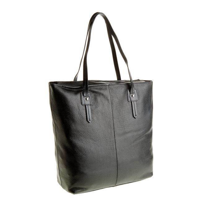 Dámská kožená kabelka bata, černá, 964-6177 - 13