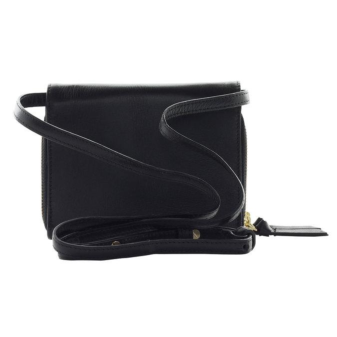 Kožená Crossbody kabelka royal-republiq, černá, 964-6191 - 17