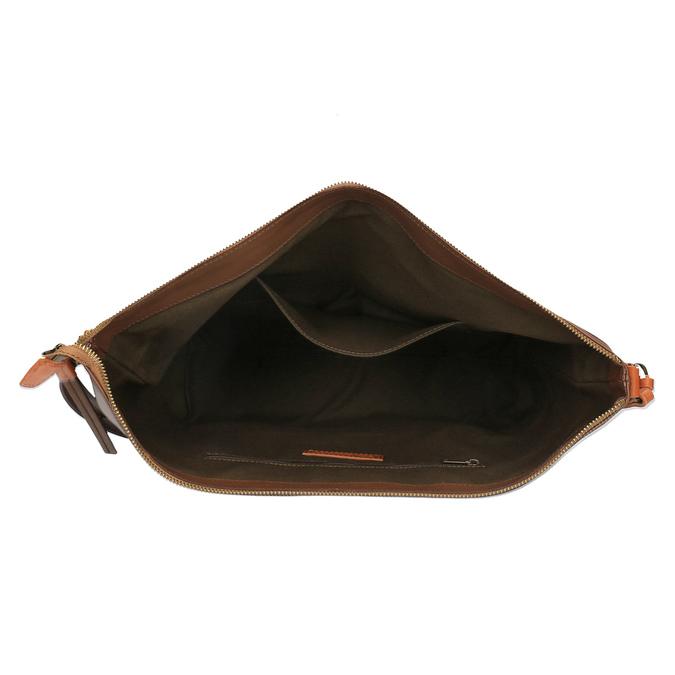 Kožená Crossbody kabelka weinbrenner, hnědá, 964-4201 - 15