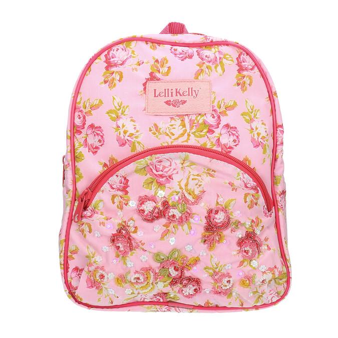 Dětský růžový batoh lelli-kelly, červená, 969-5015 - 19