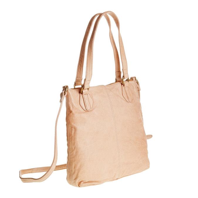 Kožená kabelka s popruhem bata, 964-5189 - 13