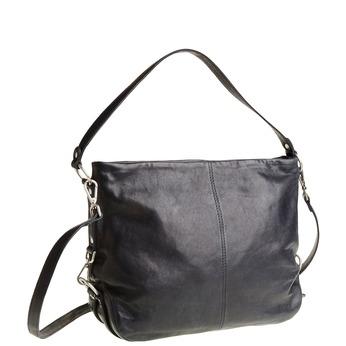 Kožená kabelka s popruhem bata, modrá, 964-9187 - 13