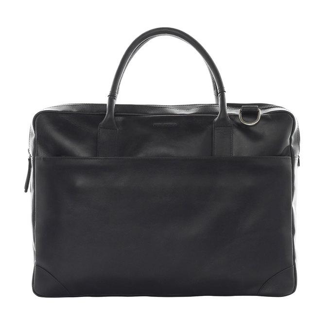 Černá kožená taška royal-republiq, černá, 964-6053 - 16