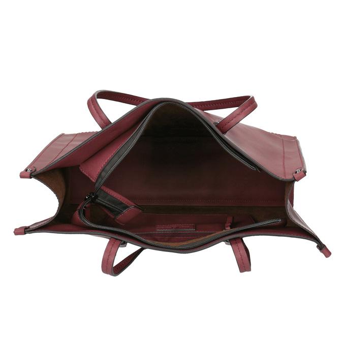 Dámská kabelka v Shopping stylu bata, červená, 961-0736 - 15