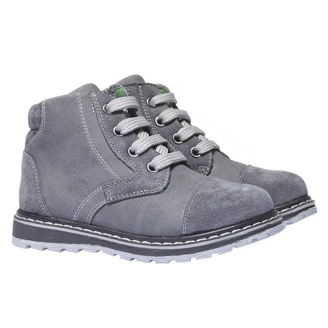Kožené kotníčkové boty mini-b, šedá, 211-2138 - 26