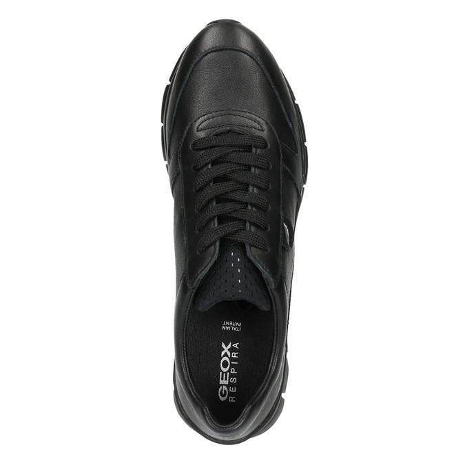 černé kožené tenisky geox, černá, 524-6030 - 19