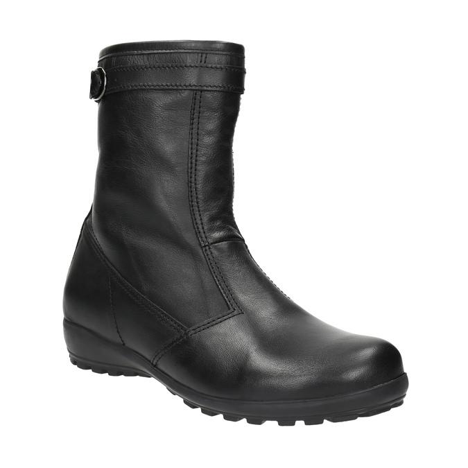 Kožená zimní obuv dámská bata, černá, 594-6269 - 13