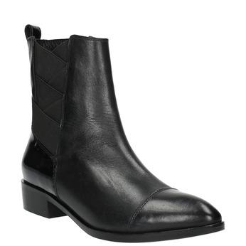 Kožená kotníčková obuv s pružením geox, černá, 514-6030 - 13