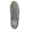 Kožené tenisky s prodyšnou podešví geox, šedá, 823-2033 - 19