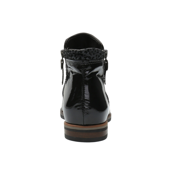 Kožená kotníčková obuv se zipy bata, černá, 596-6605 - 17