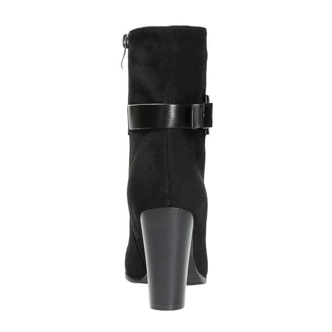 Dámská kotníčková obuv s přezkou bata, černá, 699-6630 - 17