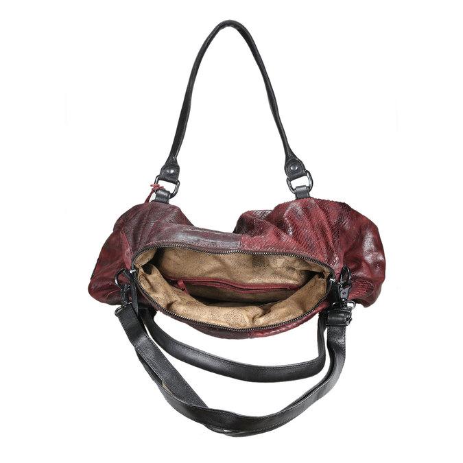 Dámská kožená kabelka a-s-98, červená, 966-5005 - 15