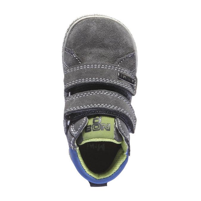Dětské kožené tenisky mini-b, šedá, 113-2101 - 19