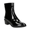 Kotníčková obuv v lakovaném provedení bata, černá, 691-6630 - 13