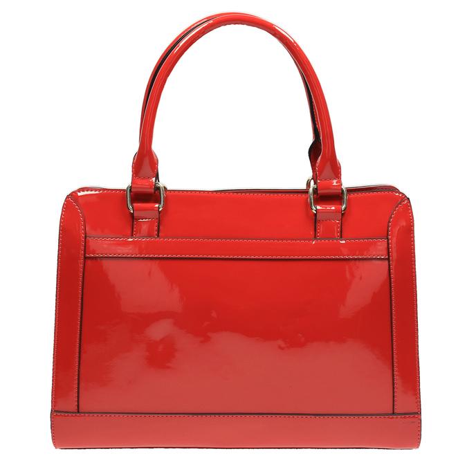 Lesklá červená kabelka bata, červená, 961-5610 - 19