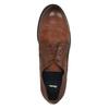 Pánské kožené polobotky v ležérním designu bata, hnědá, 826-4732 - 19