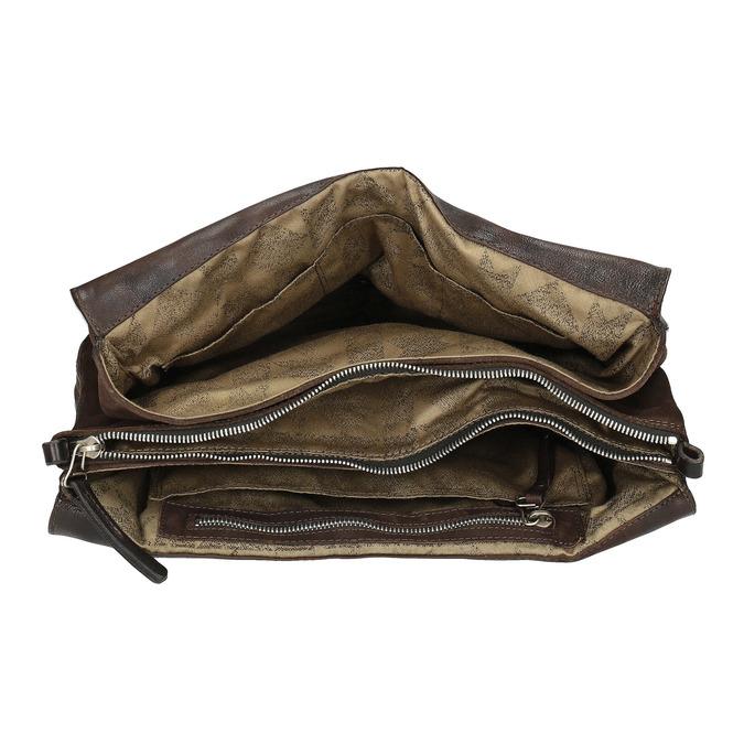 Dámská kožená kabelka do ruky a-s-98, hnědá, 966-4008 - 15