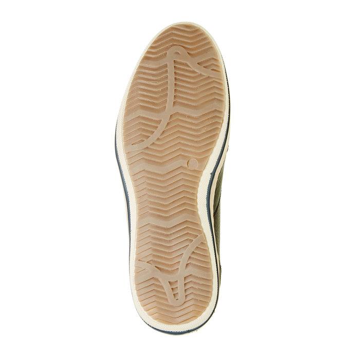 Kožené tenisky ke kotníkům bata, černá, 844-6620 - 26