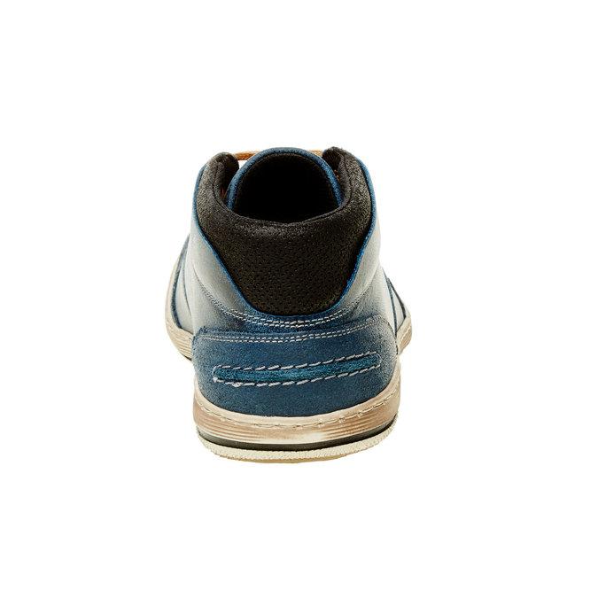Modré kožené tenisky ke kotníkům bata, modrá, 844-9620 - 17