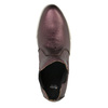 Kožená kotníčková obuv na široké podešvi bata, fialová, 596-5625 - 19