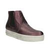 Kožená kotníčková obuv na široké podešvi bata, fialová, 596-5625 - 13