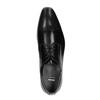 Pánské kožené polobotky se zdobenou špicí bata, černá, 824-6689 - 19