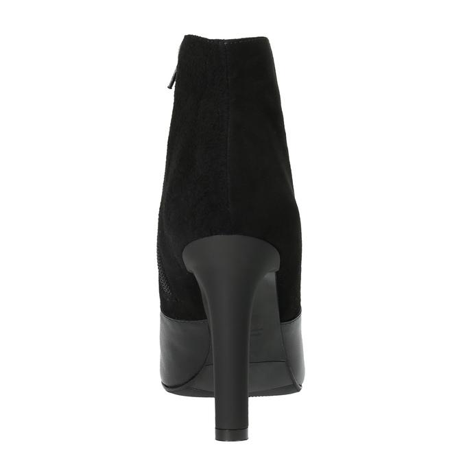 Dámská kotníčková obuv classico-and-bellezza, černá, 713-6006 - 17
