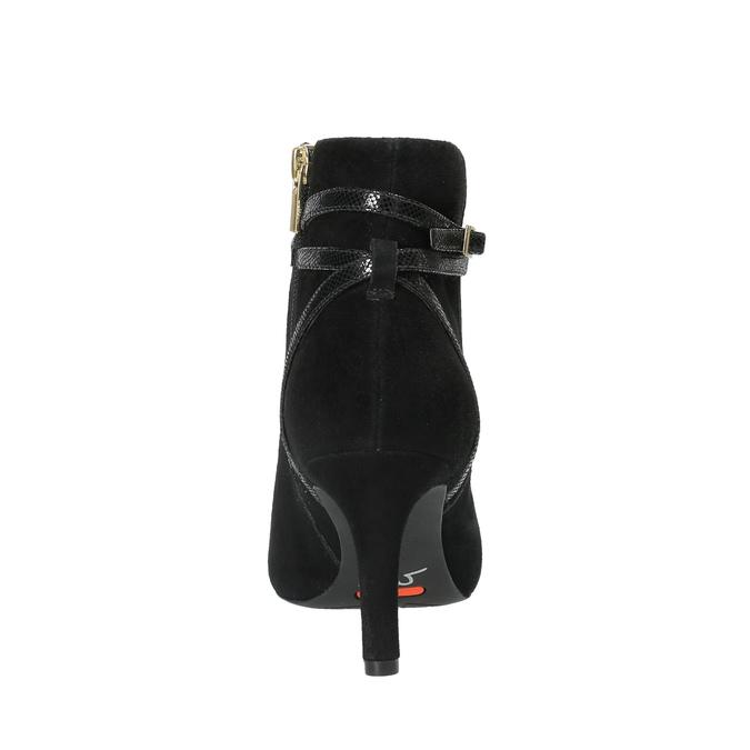 Dámská kotníčková obuv na jehlovém podpatku rockport, černá, 713-6101 - 17