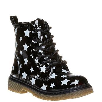 Dětská kotníčková obuv na výrazné podešvi mini-b, černá, 291-6159 - 13