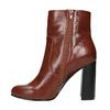 Kotníčková obuv na širokém podpatku bata, hnědá, 791-4611 - 26