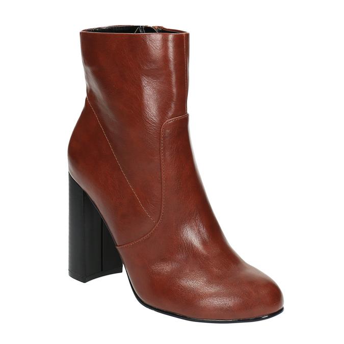 Kotníčková obuv na širokém podpatku bata, hnědá, 791-4611 - 13