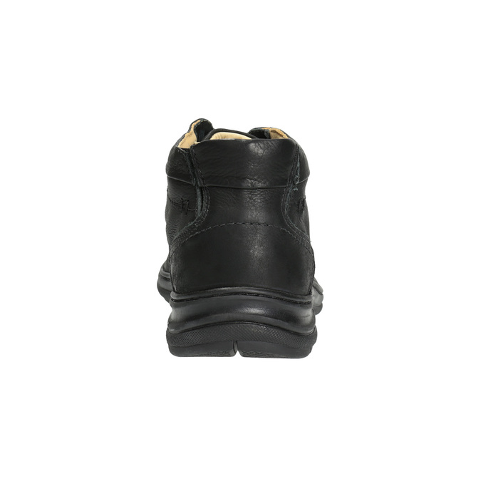 Kožená kotníčková obuv pánská comfit, černá, 824-6718 - 17