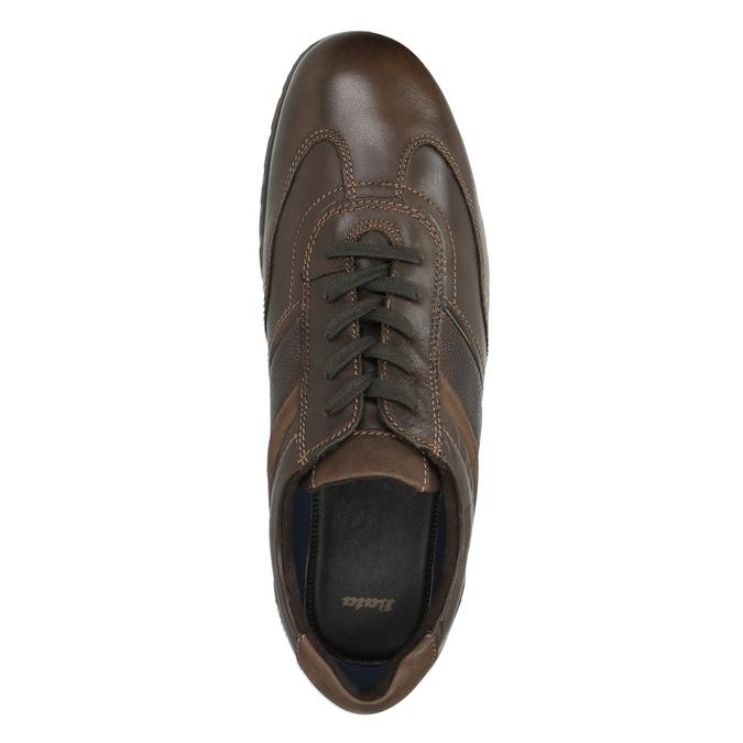 Ležérní kožené polobotky bata, hnědá, 826-4652 - 19
