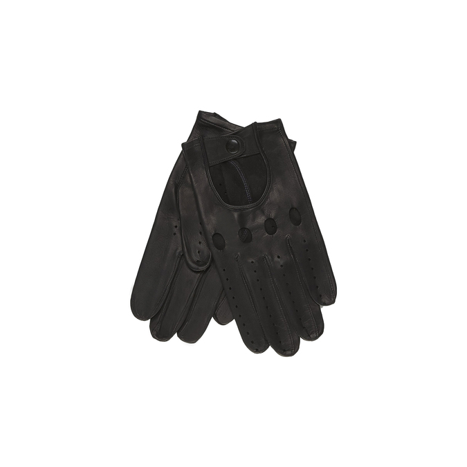 Kožené rukavice junek, černá, 904-6003 - 13