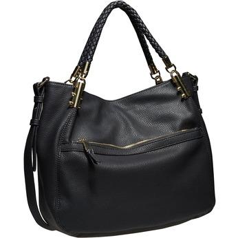 Dámská kabelka v Hobo stylu bata, černá, 961-6329 - 13