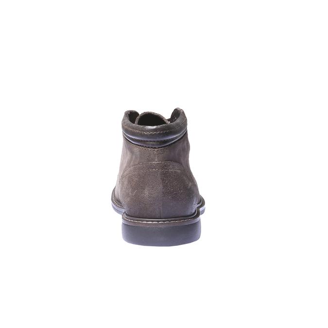 Pánské semišové boty bata, hnědá, 893-4261 - 17