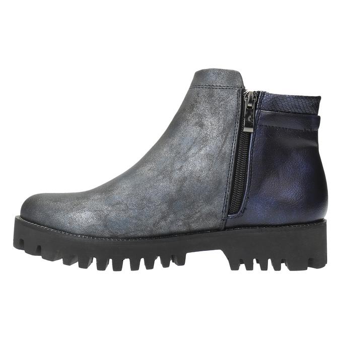 Dámská kotníčková obuv bata, šedá, 591-2615 - 26