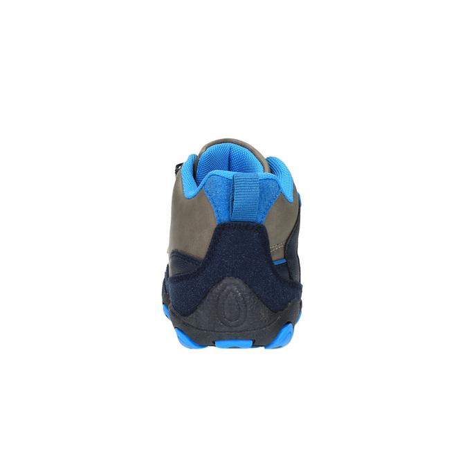 Chlapecká kotníčková obuv na suché zipy bubblegummer, šedá, 291-2600 - 17