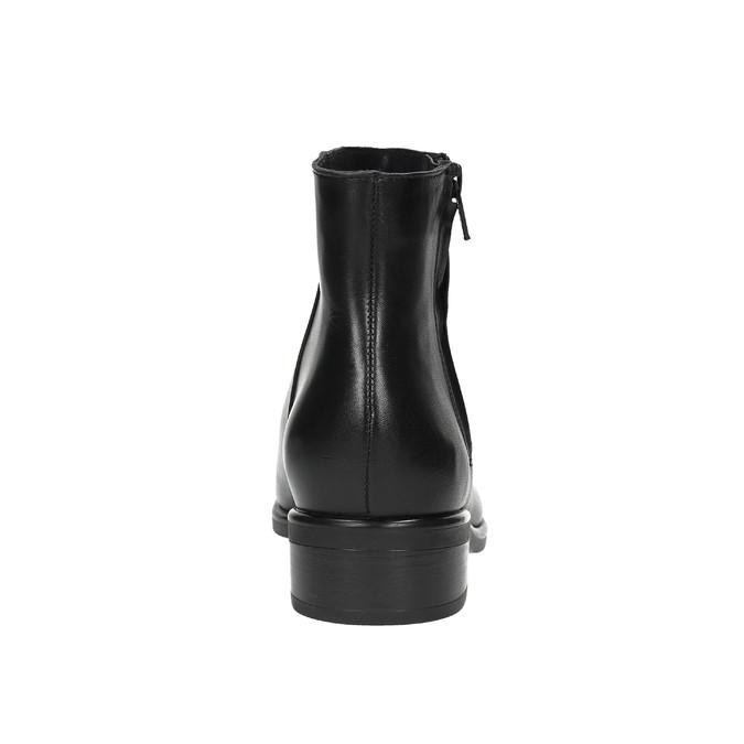 Kožená kotníčková obuv se zipem černá bata, černá, 594-6518 - 17