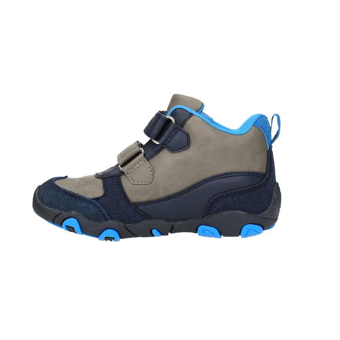 Chlapecká kotníčková obuv na suché zipy bubblegummer, šedá, 291-2600 - 26