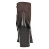 Kožená kotníčková obuv na masivním podpatku bata, hnědá, 696-4612 - 17