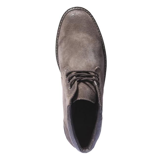 Pánské semišové boty bata, hnědá, 893-4261 - 19